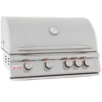 Blaze LTE 32-Inch 4-Burner Built-In Propane Gas Grill With Rear Infrared Burner & Grill Lights - BLZ-4LTE-LP