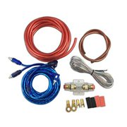 muzata 10 gauge amplifier installation kit with rca interconnect and speaker wire , car audio subwoofer wire, amp wiring, auto audio cables