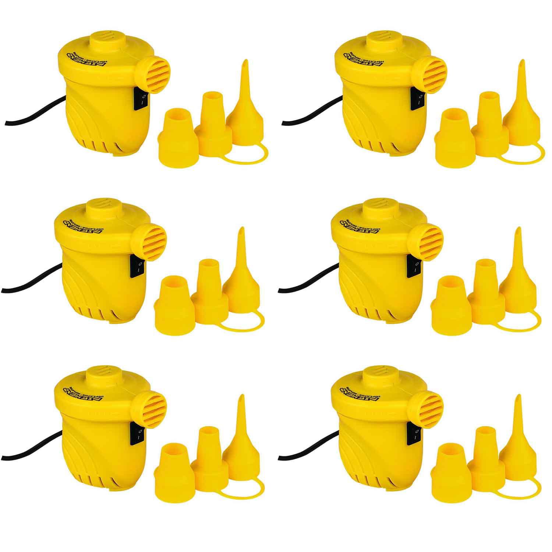 Airhead 12V Hi Output Volume Portable Air Pump Inflatables Towables (6 Pack)