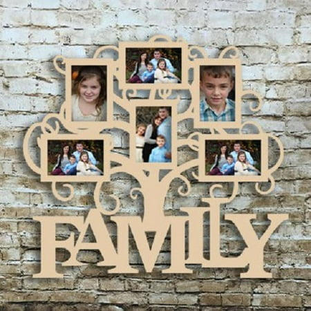 Family Six Pictures Frame, Wood Art, Unfinished Wood Frame, Wall Decor Family Six Pictures Frame, Wood Art,4x6 Unfinished Wood Frame, Wall Decor Family Six Pic Frame](Unfinished Wood Frames)