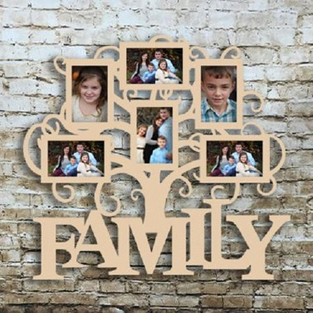 Family Six Pictures Frame, Wood Art, Unfinished Wood Frame, Wall Decor Family Six Pictures Frame, Wood Art,4x6 Unfinished Wood Frame, Wall Decor Family Six Pic Frame