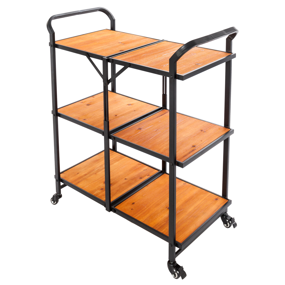 UBesGoo 3-Tier Foldable Multi-function Cart for Bar/kitchen