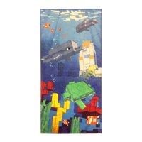 Minecraft Shipwreck 28X58 Beach Towel