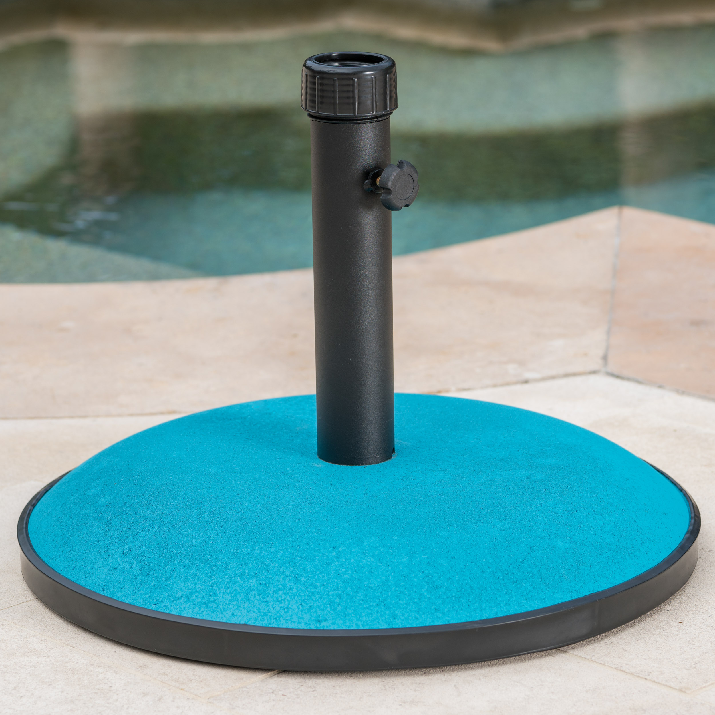 Maximus 55lbs Concrete and Iron Umbrella Base, Teal