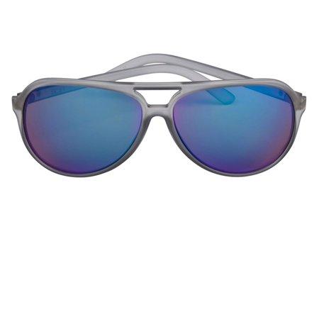 Scin Dree Sunglasses (MATTE GREY XTAL / GREY LENS ICE BLUE REVO FM)