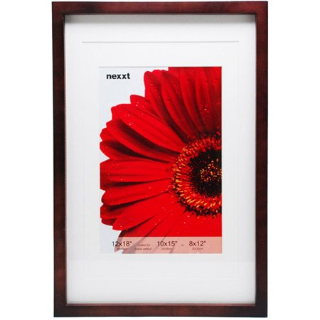 gallery 12 x 18 espresso frame double matted for 10x15 or 8x12 photo