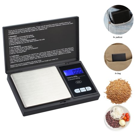 Pocket Weighing Scales - ESYNIC 0.01g - 500g Mini Digital Pocket Scale Electronic scale Portable Pocket Digital Weighing Scale Gram Pocket Scale Jewelry / Cooking Scale