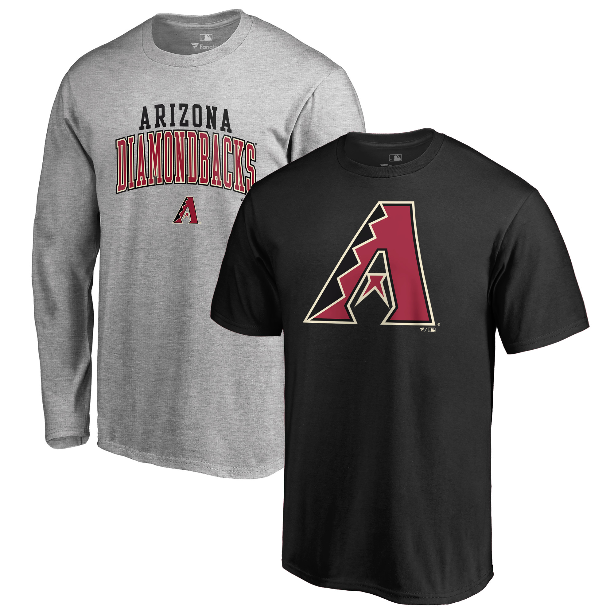 Arizona Diamondbacks Fanatics Branded T-Shirt Combo Set - Black/Gray