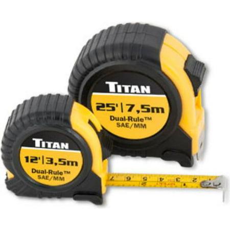 Titan TTN-10903 Combo Dual Rule Tape Measure Set, - Taupe Combo