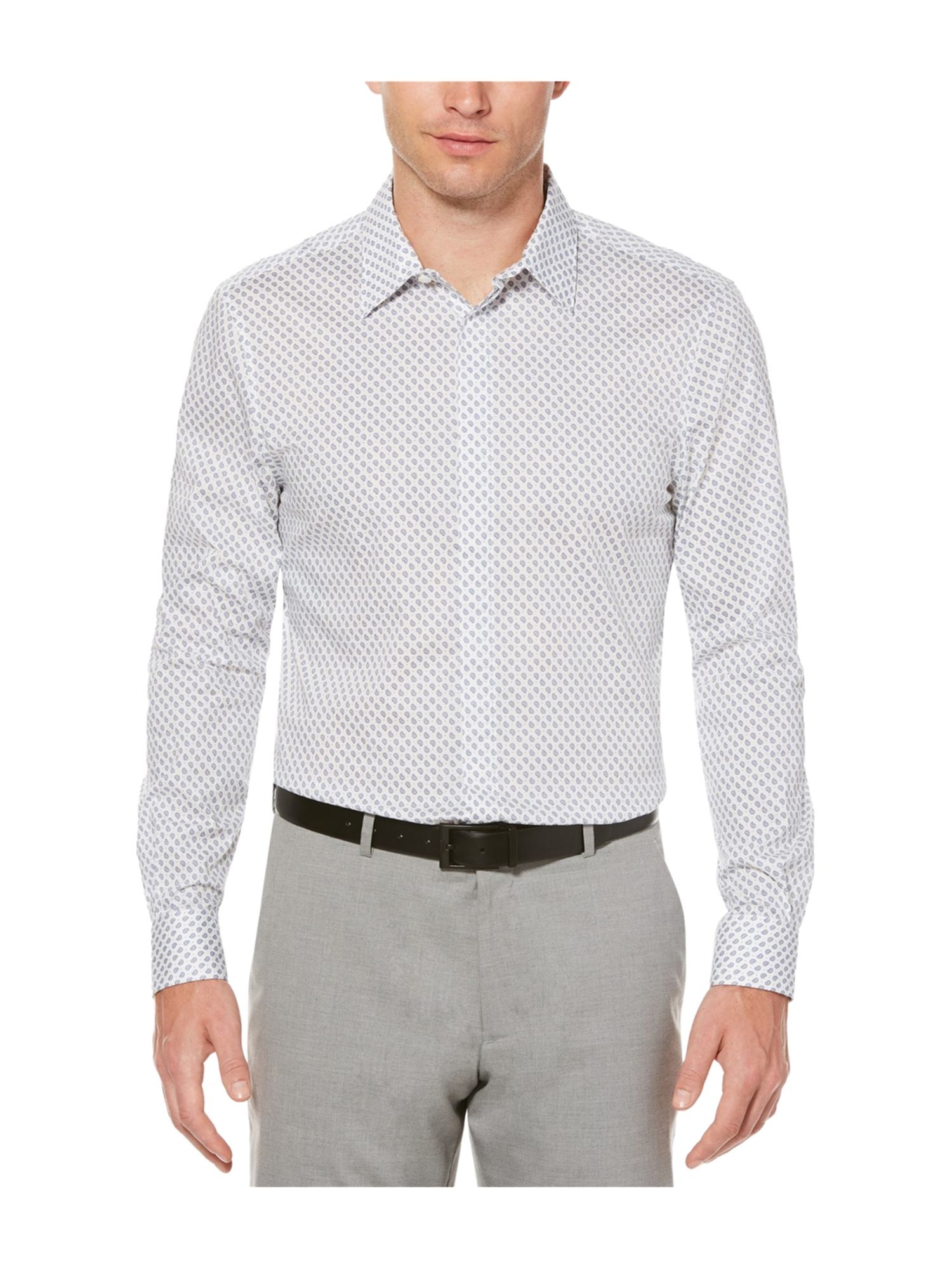 Perry Ellis Mens Paisley Stretch Button Up Shirt