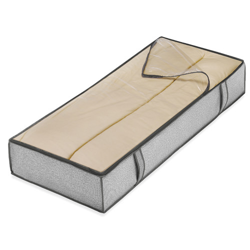 "Whitmor 6283-75 18"" L x 42"" W x 6"" H Grey Underbed Storage Bag"