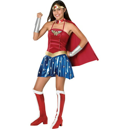 wonderwoman teen halloween costume size teen girls one size - Girls Teen Halloween Costumes