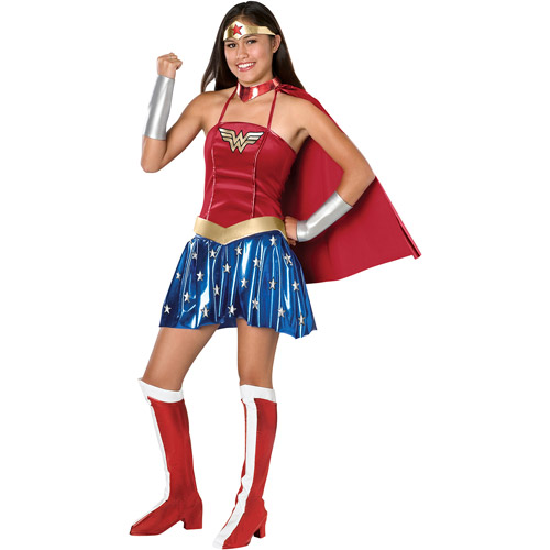 Lovely Wonderwoman Teen Halloween Costume, Size: Teen Girlsu0027   One Size
