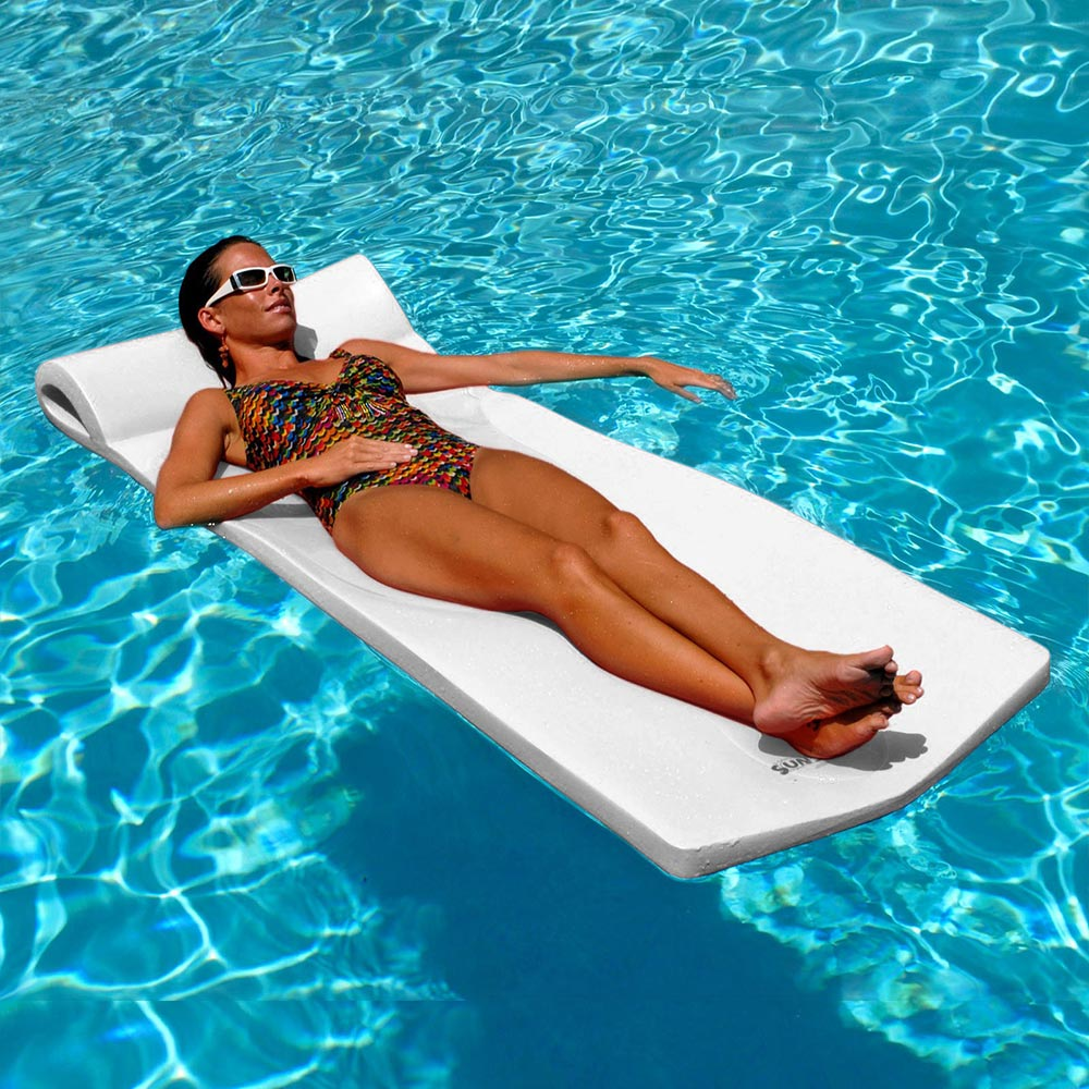 Texas Recreation Sunsation Foam Mattress Swimming Pool Float, White