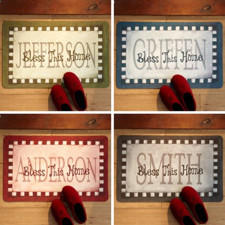 Personalized Bless This Home Doormat 17 X 27 Available In