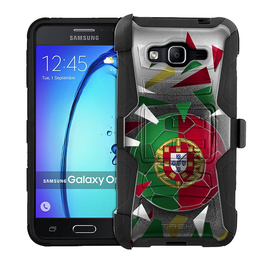 Samsung Galaxy On5 Armor Hybrid Case Soccer Ball Portugal Flag by Trek Media Group