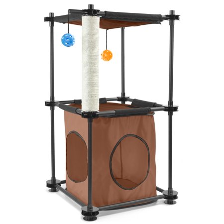 Kitty City Tower Cat Scratcher  17 75 X35 25 X17 7   Multicolor