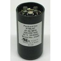 Packard PTMJ47 Motor Start Capacitor. 47-56 MFD UF / 220-250 VAC