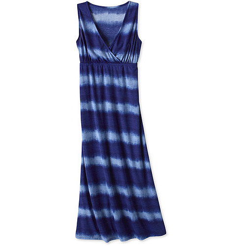 Womens' Surplice Tie Dye Maxi Dress