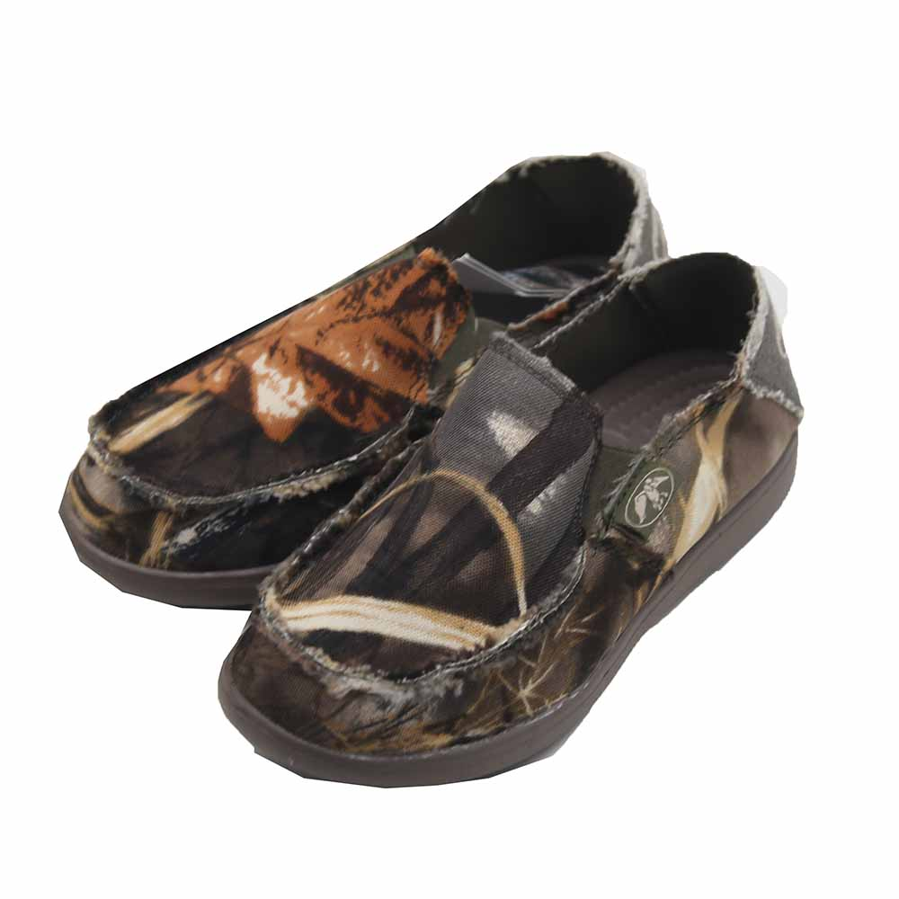 Youth Canvas Slip On - Camo Size 1