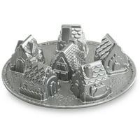 "Nordic Ware Cozy Village Pan, Cast Aluminum, Lifetime Warranty, 6 Cup, 2.51 lbs, 12.13"" X 12.13"" X 2.88"""