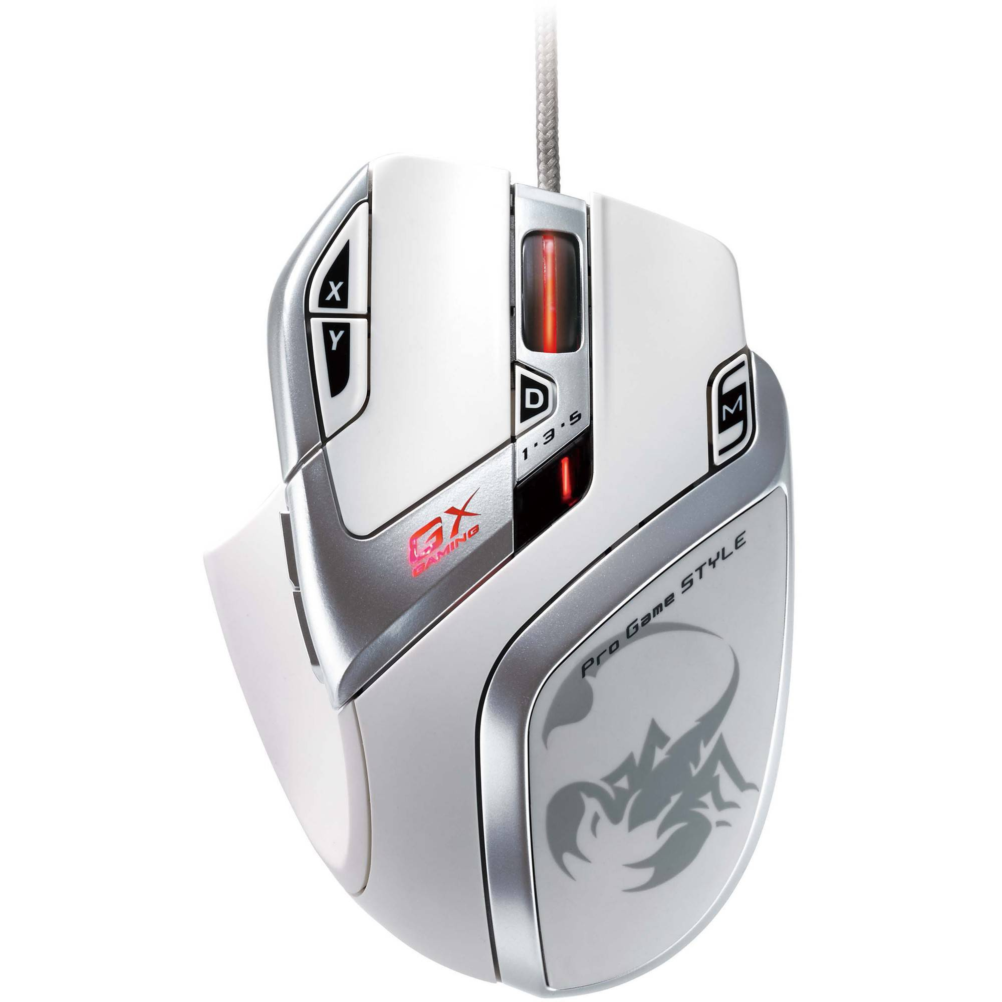 Genius GX Gaming Deathtaker White Edition 9-Button Gaming Mouse