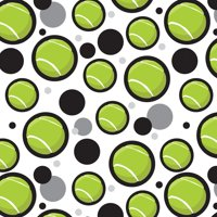 Tennis Ball Realistic Premium Gift Wrap Wrapping Paper Roll Pattern
