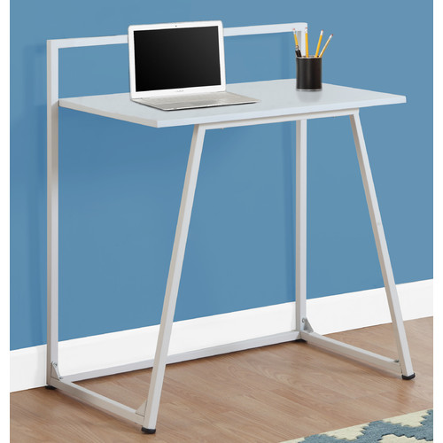 "Monarch Computer Desk 30""L / Juvenile White / White Metal"