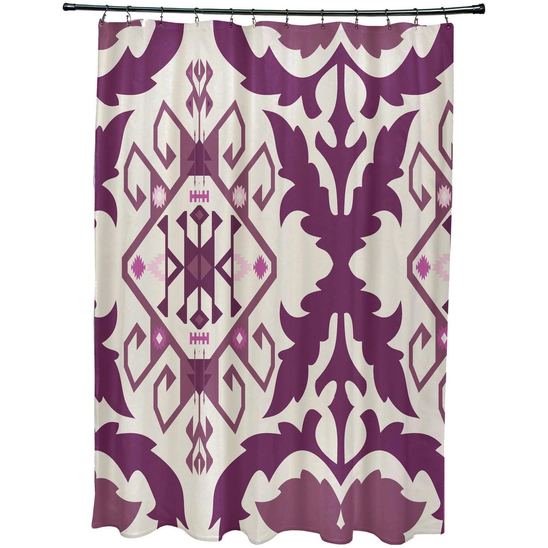 Simply Daisy 71 X 74 Bombay 6 Geometric Print Shower Curtain