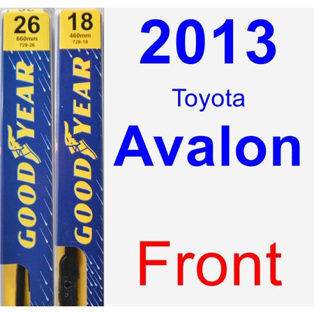2013 Toyota Avalon Wiper Blade Set/Kit (Front) (2 Blades) - Premium