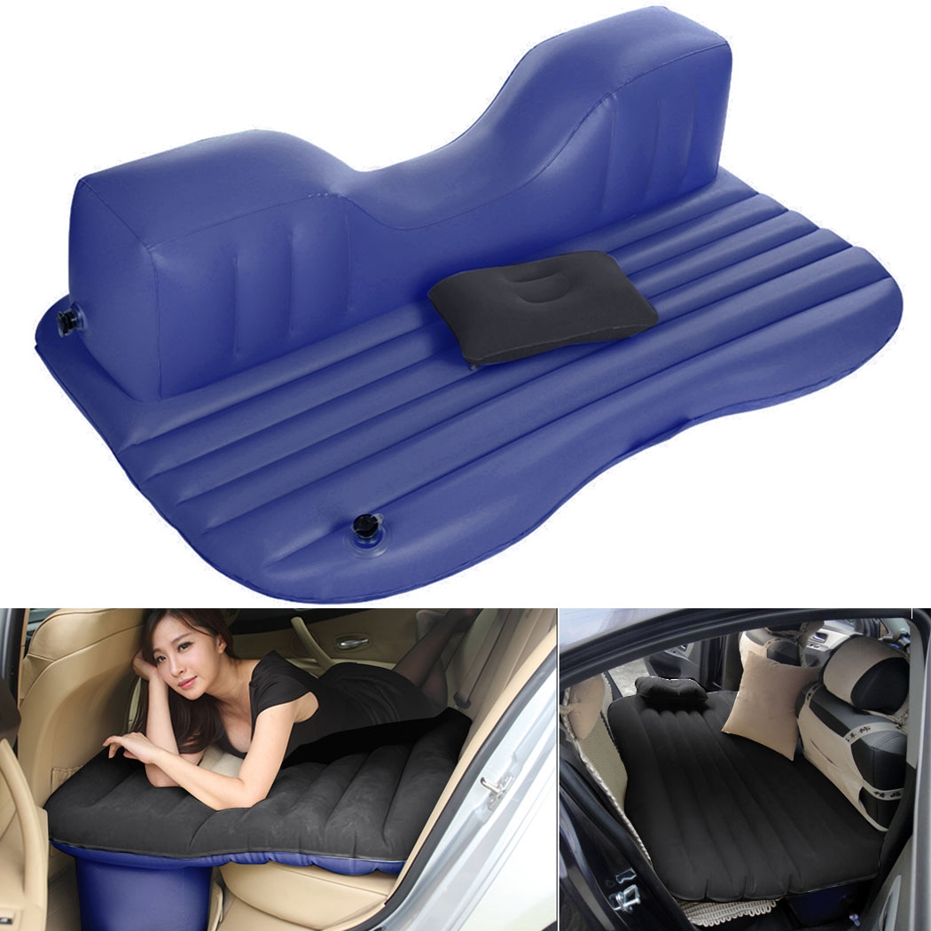Backseat Inflatable Bed Ancheer Car Air Bed Outdoor Travel Air Mattress Rest Pillow