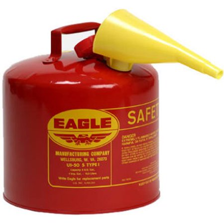 Eagle Manufacturing Co UI-50-S Safety Can, Type I, 5gal, Red