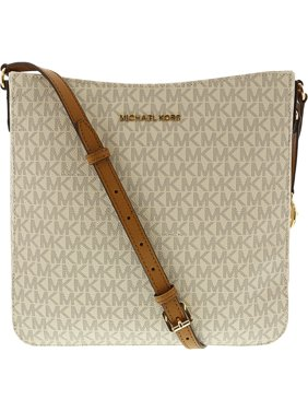 2b2b8feadecc Product Image Michael Kors Jet Set Travel Large Messenger Bag - Vanilla /  Acorn