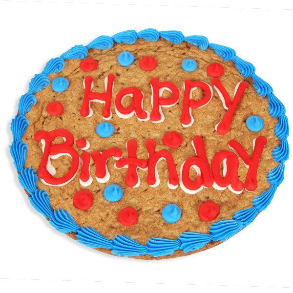 Amazing Happy Birthday Cookie Cake Walmart Com Walmart Com Personalised Birthday Cards Cominlily Jamesorg