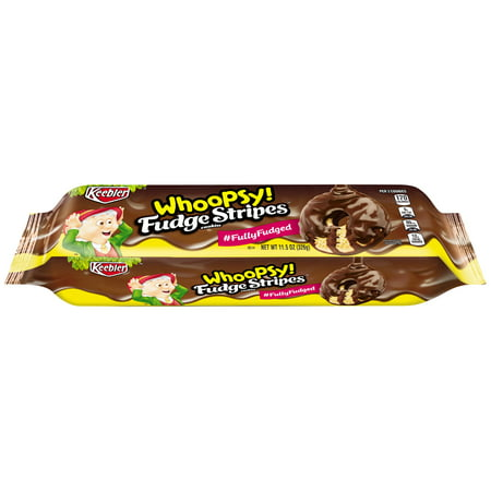 Holiday Fudge - (3 Pack) Keebler Whoopsy! Fudge Stripes Snack Cookies 11.5 oz