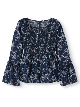 p.s.09 from aeropostale Girls Smocked Bodice Blouse