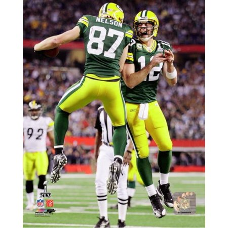 Aaron Rodgers & Jordy Nelson Super Bowl XLV Action Photo Print ()