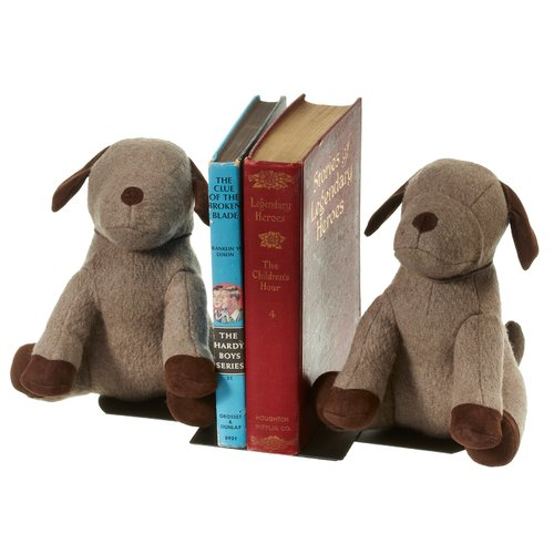 August Grove Stuffed Dog Bookends (Set of 2)