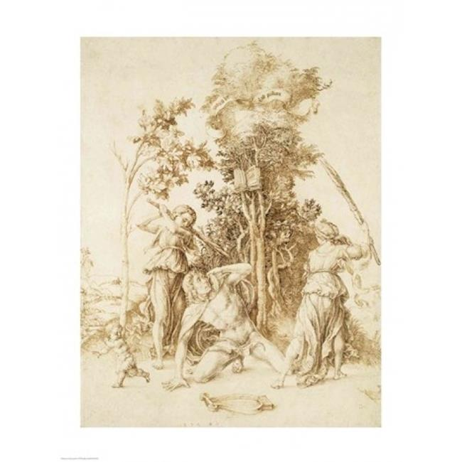 The Death of Orpheus 1494 Poster Print by Albrecht Durer - 24 x 36 in. - Large - image 1 de 1