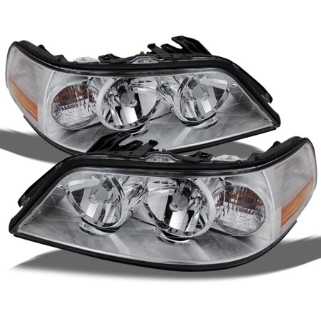 Fit 2005-2011 Lincoln Town Car Headlights Lamps Replacement Halogen Fit Only ()