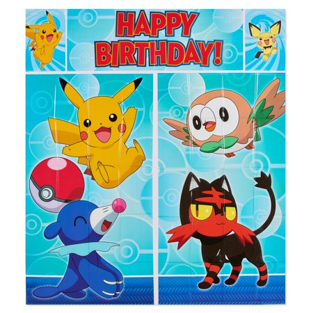 American Greetings Pokemon Party Supplies Scene Setter Wall Decorations, 6-Count