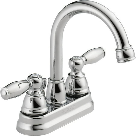C-spout Centerset (Peerless Apex Centerset Two Handle Bathroom Faucet in Chrome)