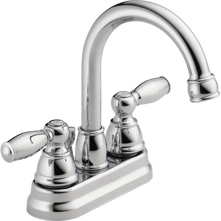- Peerless Apex Centerset Two Handle Bathroom Faucet in Chrome P299685LF-ECO-W