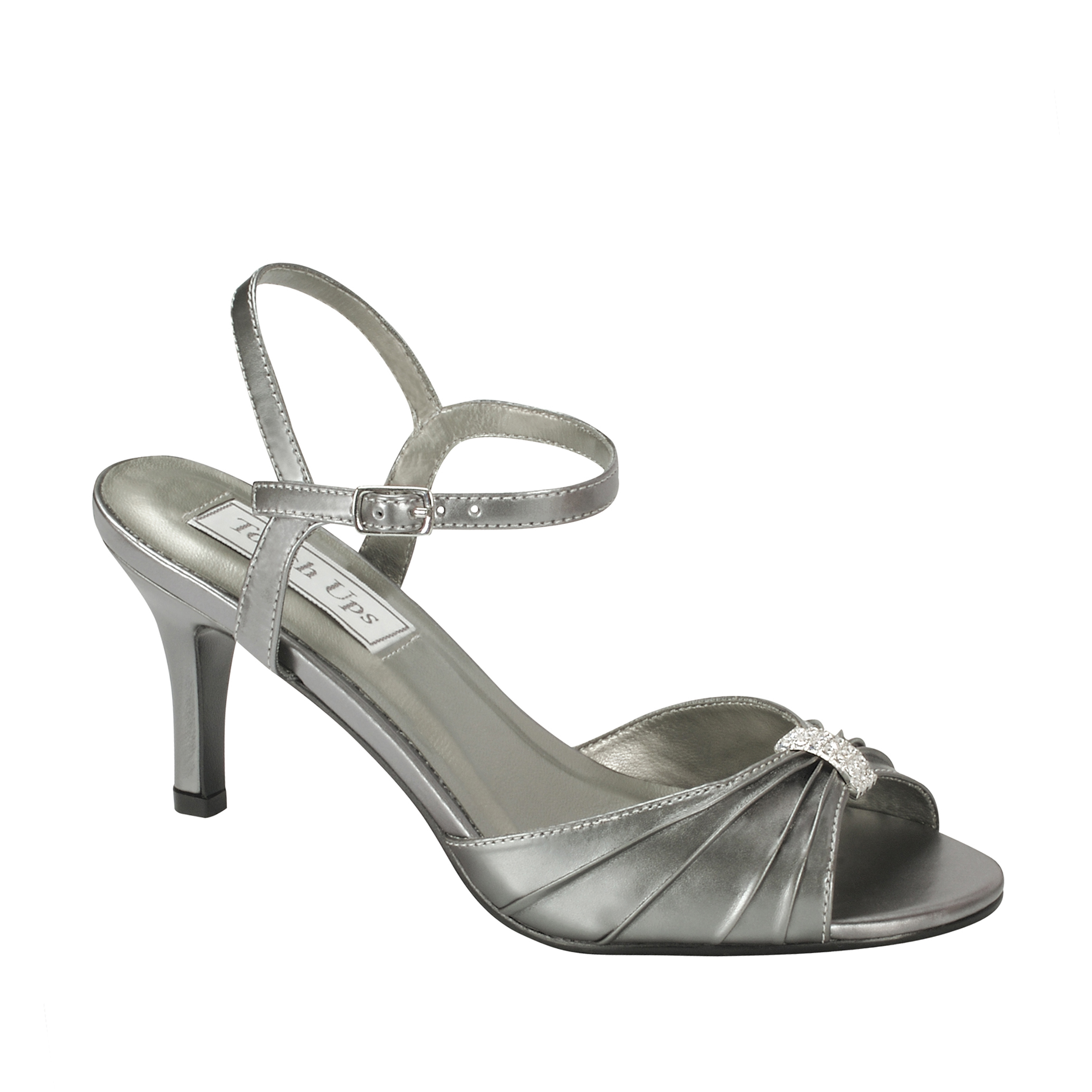 Touch Ups Womens Asher Ankle Wrap Sandal,Gunmetal,11 W US