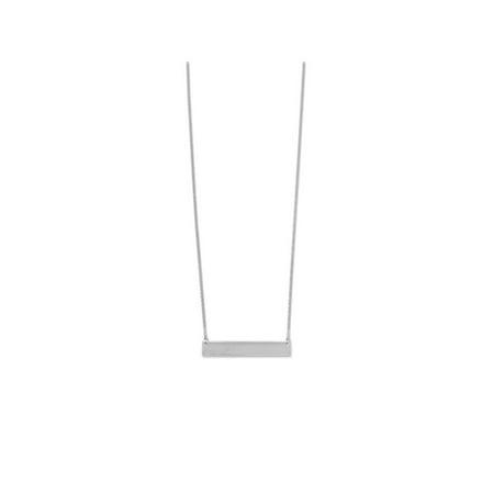Sterling Silver Engravable Bar Necklace Adjustable Length