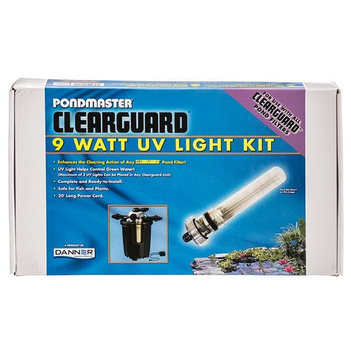 Pondmaster Clearguard Filter UV Light Conversion Kit 9 Watt UV - Ponds up to 2,700 Gallons - (For Use With Clearguard 2700)