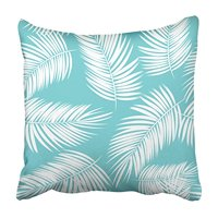 CMFUN Black Tree Palm Leaf Green Abstract Asia Beaches Beauty Branch Bush Cartoons Pillowcase Cushion Cover 18x18 inch