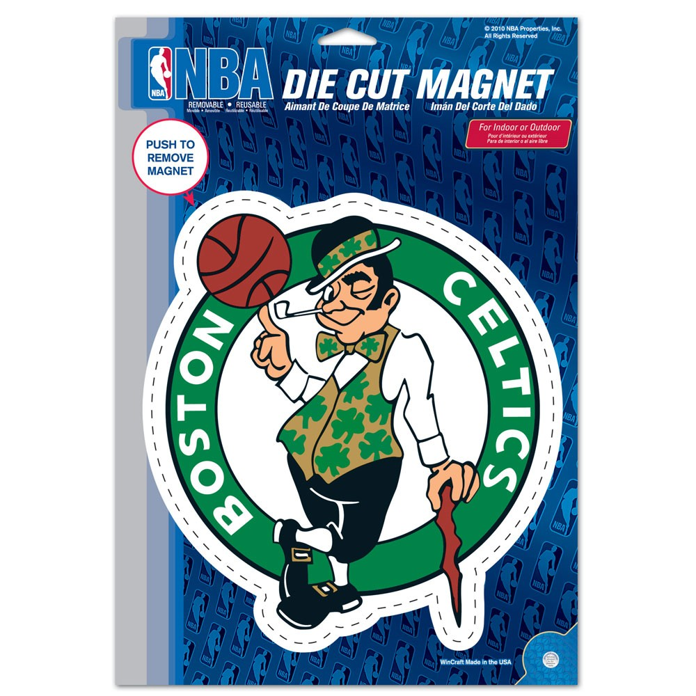 Boston Celtics Official NBA 6 inch x 9 inch  Car Magnet by Wincraft