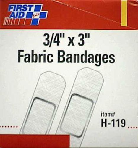 "First Aid Only H-119 Fabric Bandage 3/4""X3"""