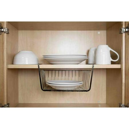 Willow Shelf Basket (Home Basics Small Equinox Under Shelf Basket )